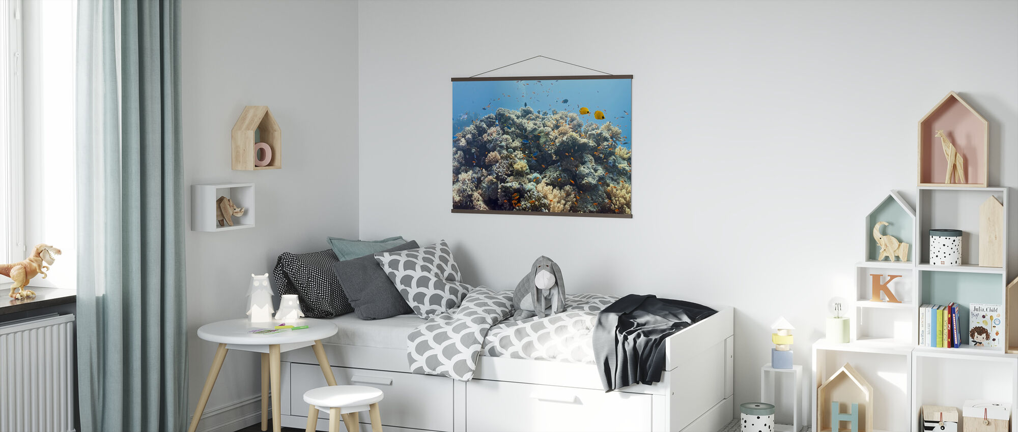 Crowded Coral Colony - Poster - Kids Room