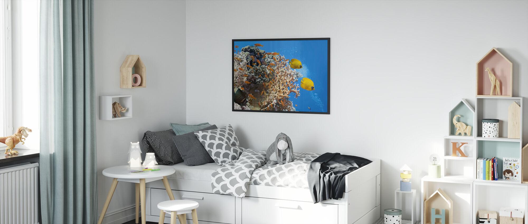 Koralli kohtaus - Panorama - Kehystetty kuva - Lastenhuone