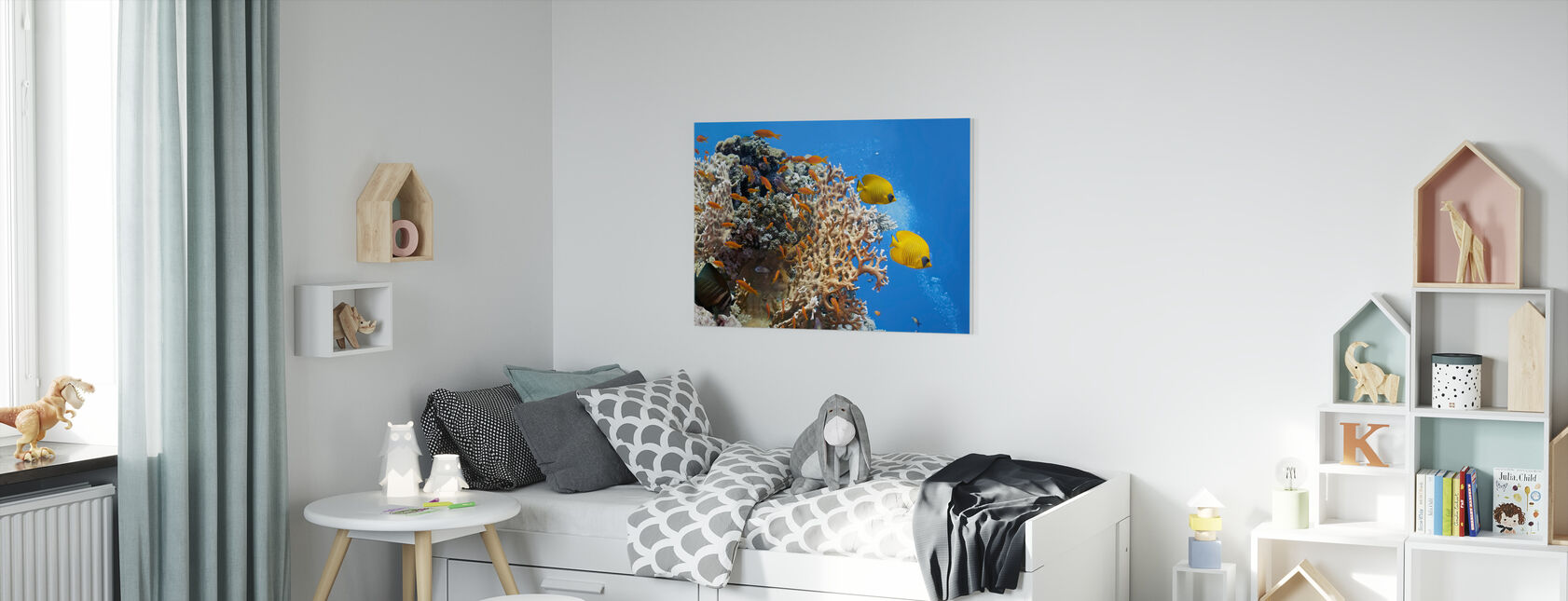 Koralli kohtaus - Panorama - Canvastaulu - Lastenhuone