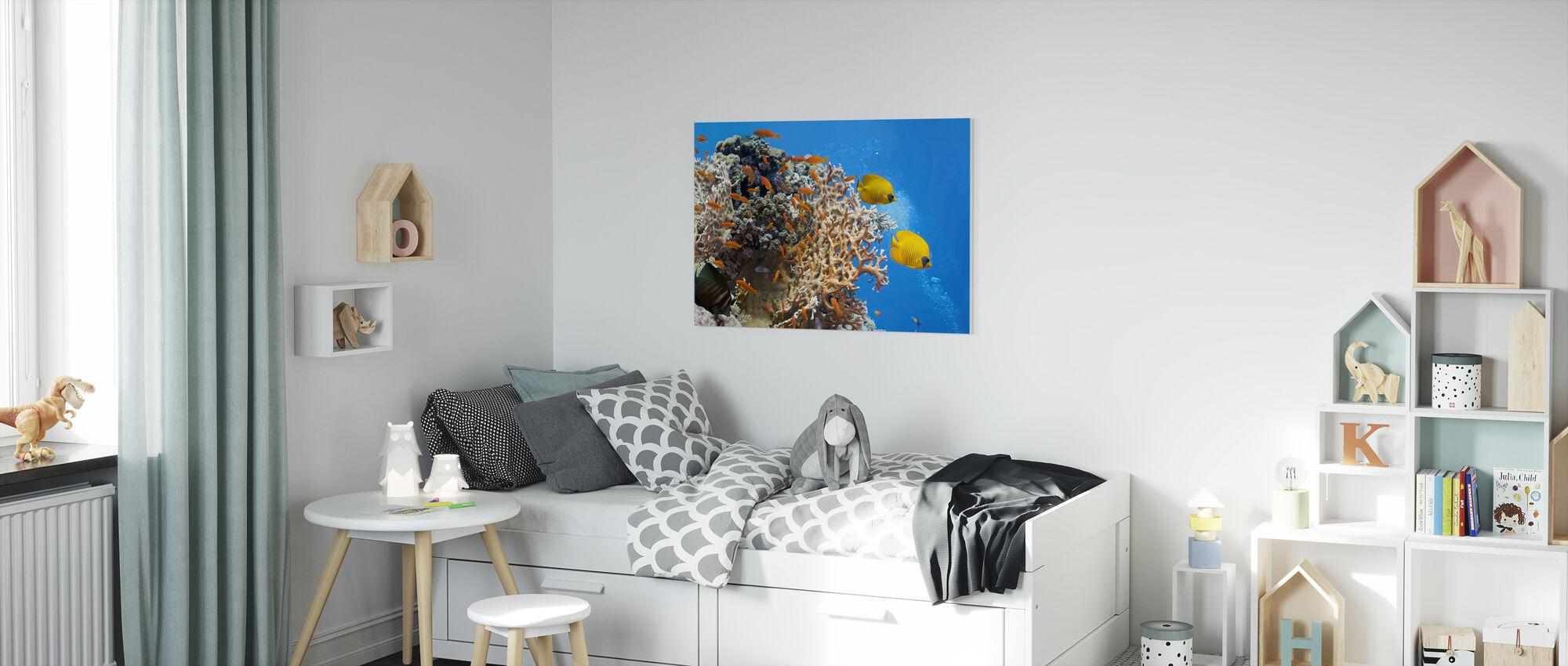 Coral Scene - Panorama - Canvas print - Kids Room