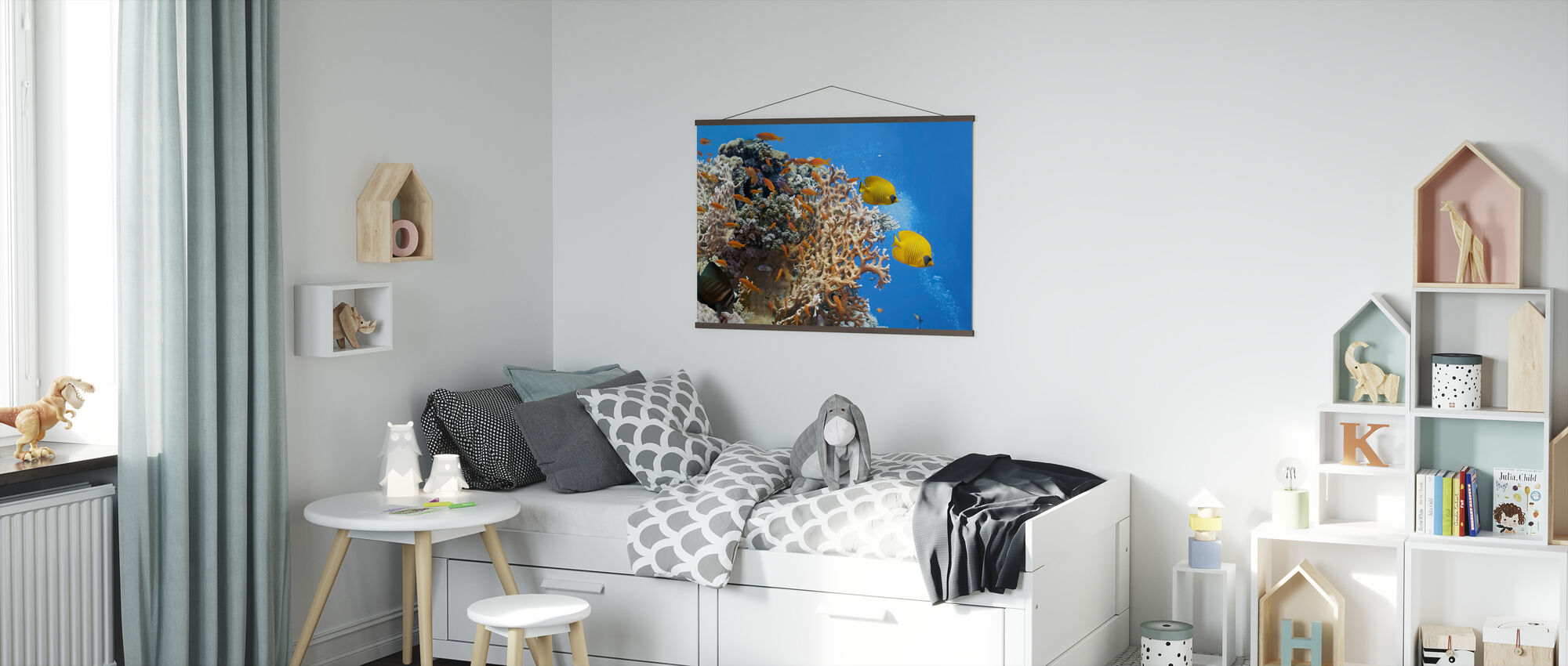 Coral Scene - Panorama - Poster - Kids Room