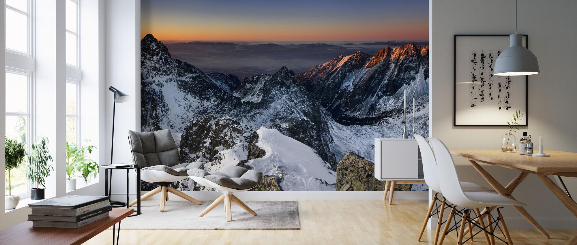 Soluppgång i höga Tatrabergen - Tapet - Vardagsrum