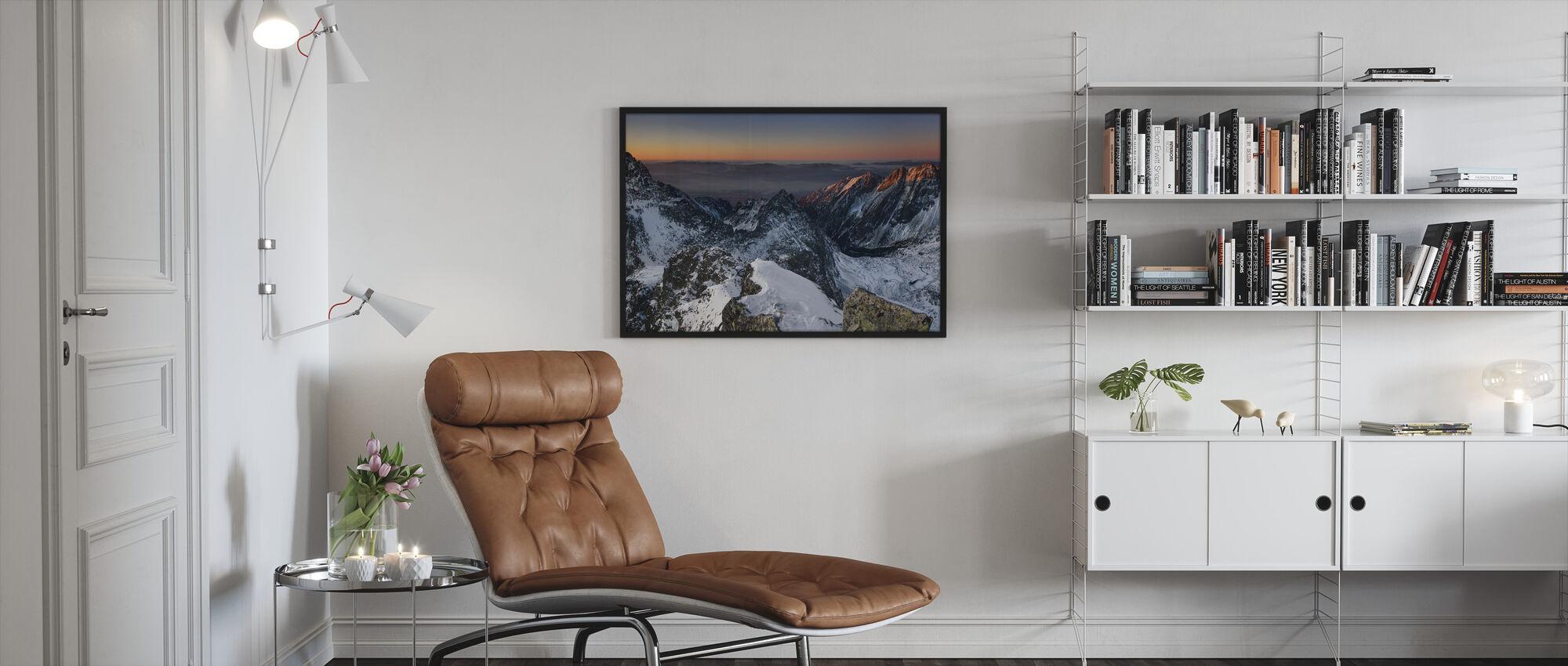 Sun Rise in High Tatras - Framed print - Living Room