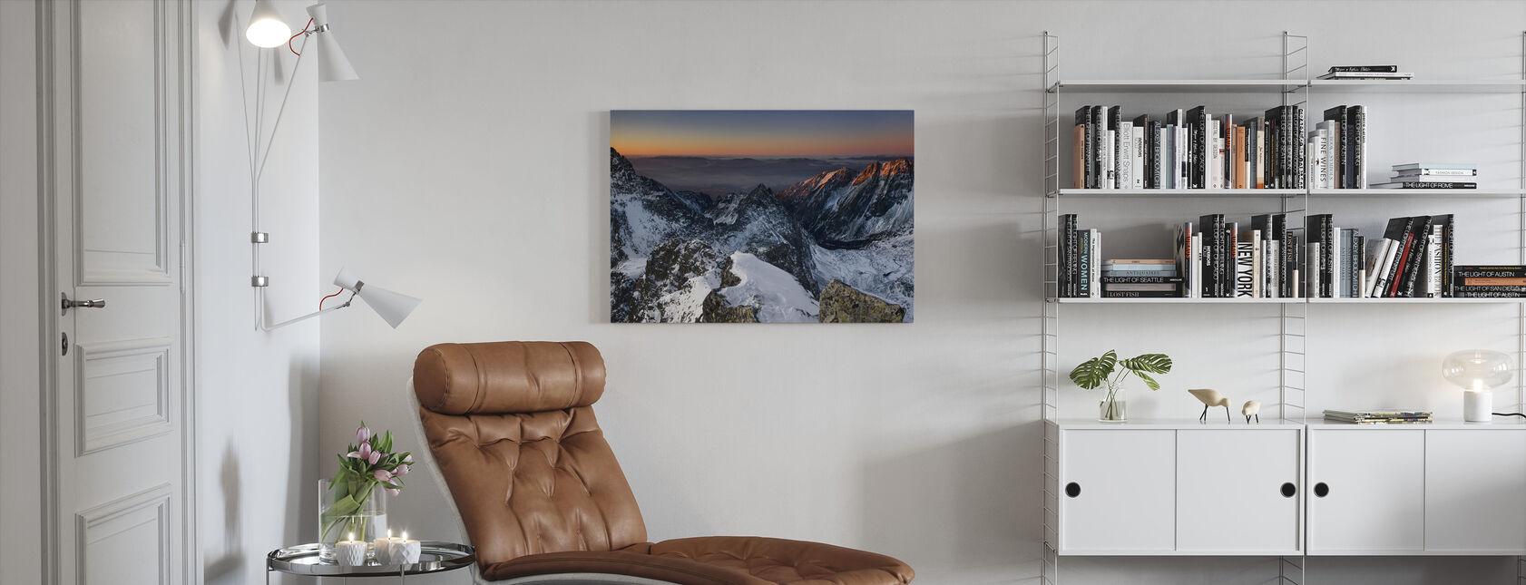 Sun Rise in High Tatras - Canvas print - Living Room