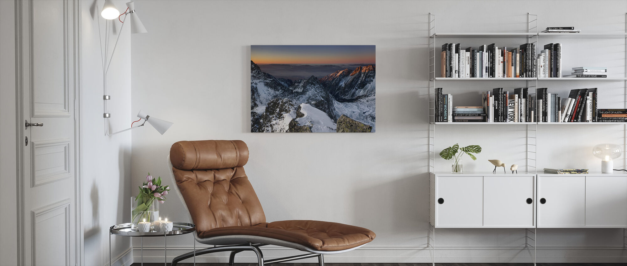 Zonsopgang in Hoge Tatra - Canvas print - Woonkamer