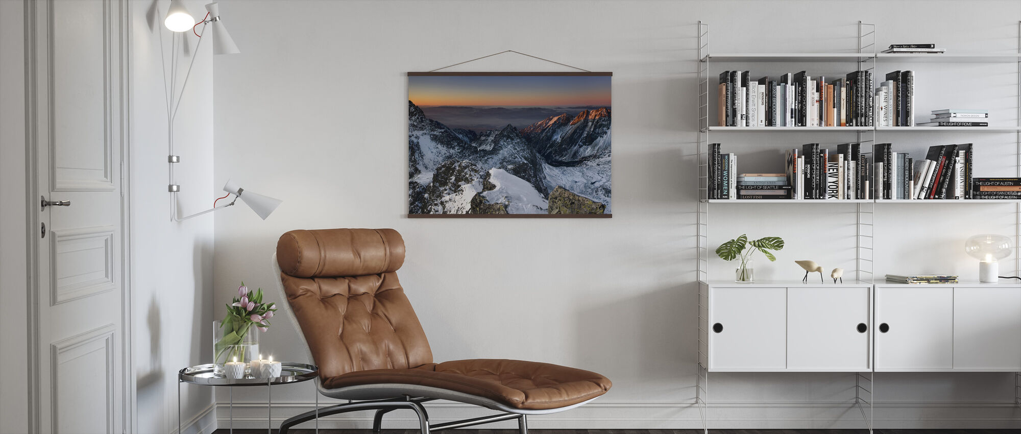 Sun Rise in High Tatras - Poster - Living Room