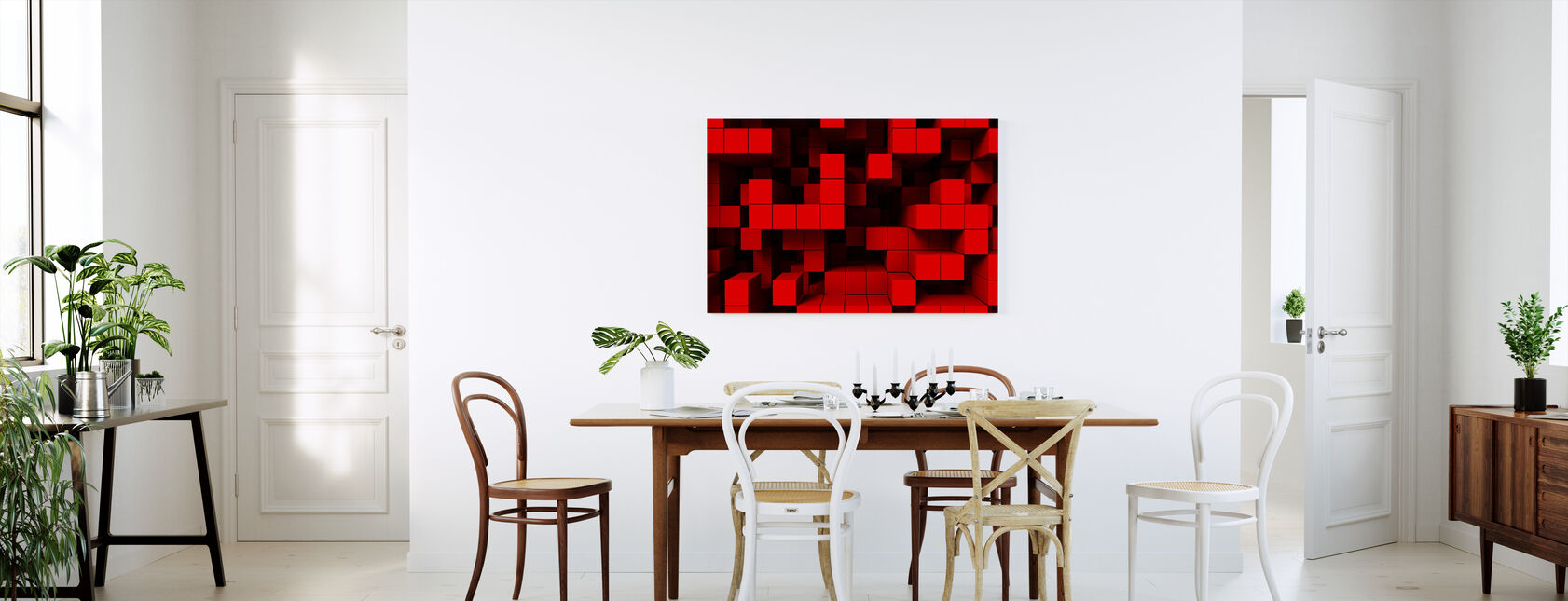 Deep Tetris - Canvas print - Kitchen