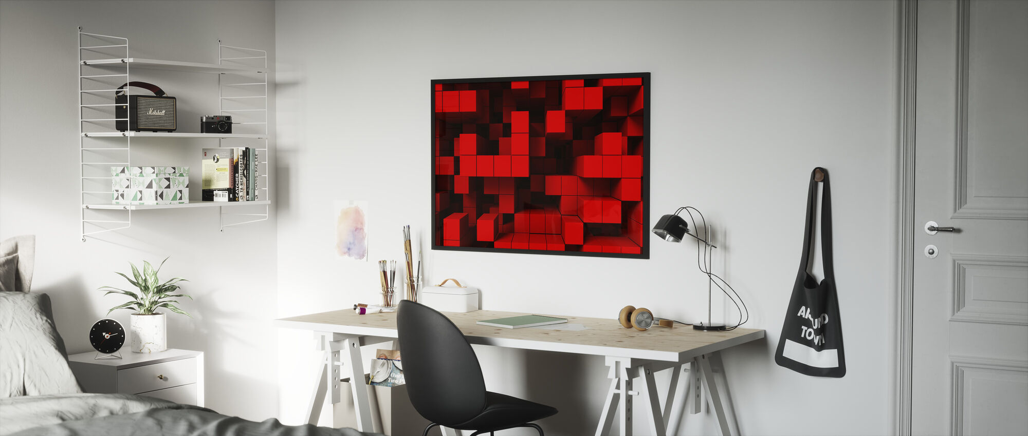 Deep Tetris - Framed print - Kids Room