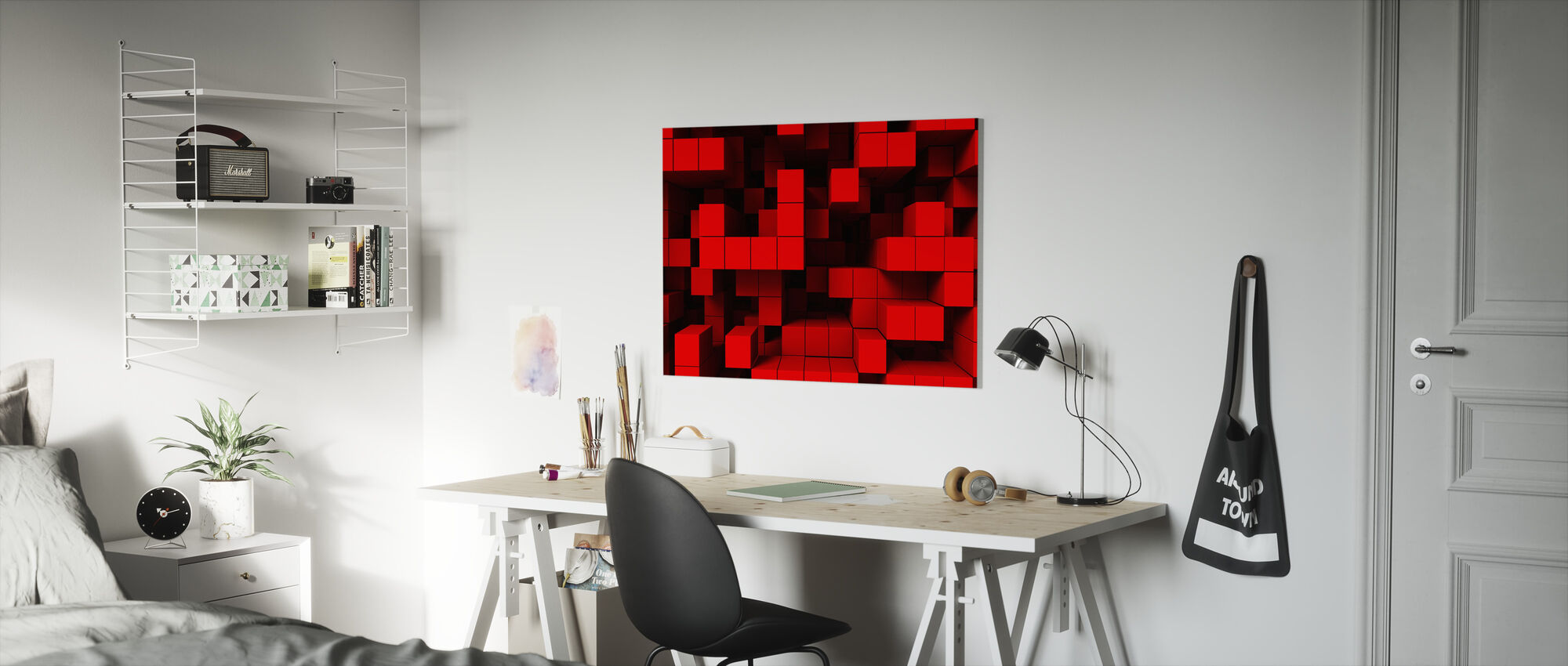 Deep Tetris - Canvas print - Kids Room