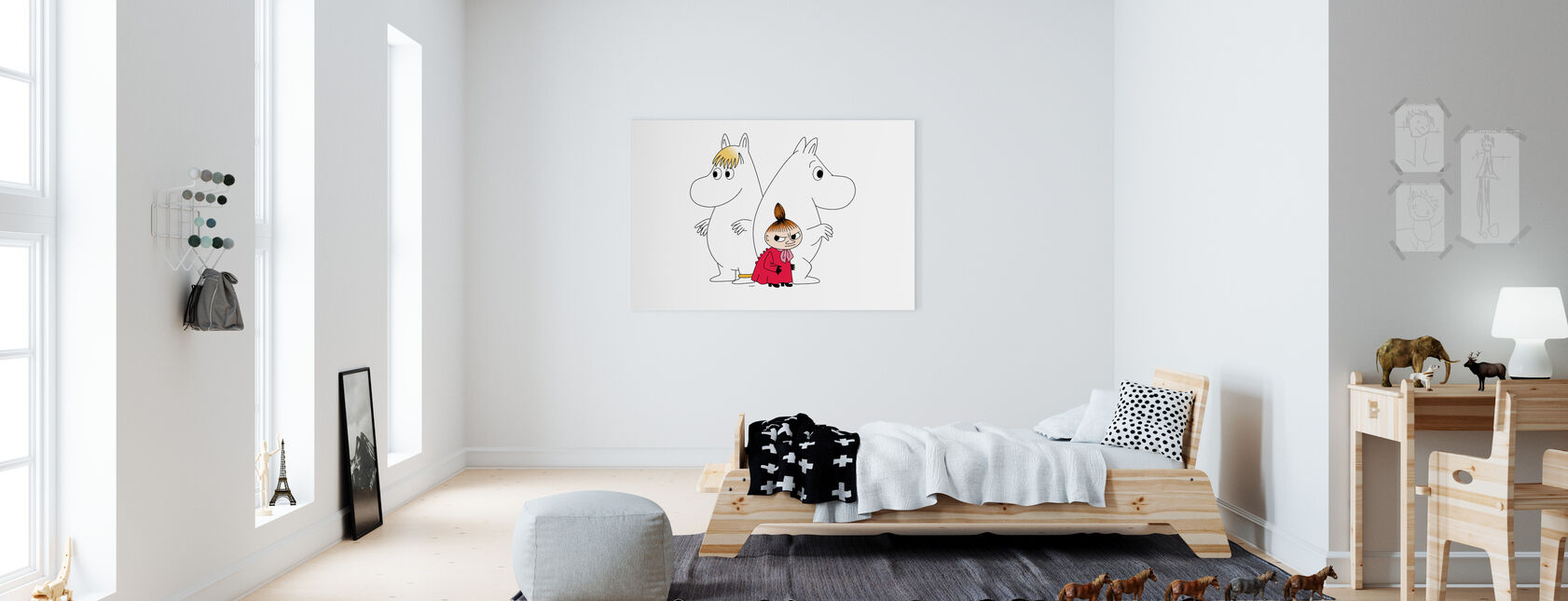 Muumi - Niiskuneito ja Pikku Myy - Canvastaulu - Lastenhuone