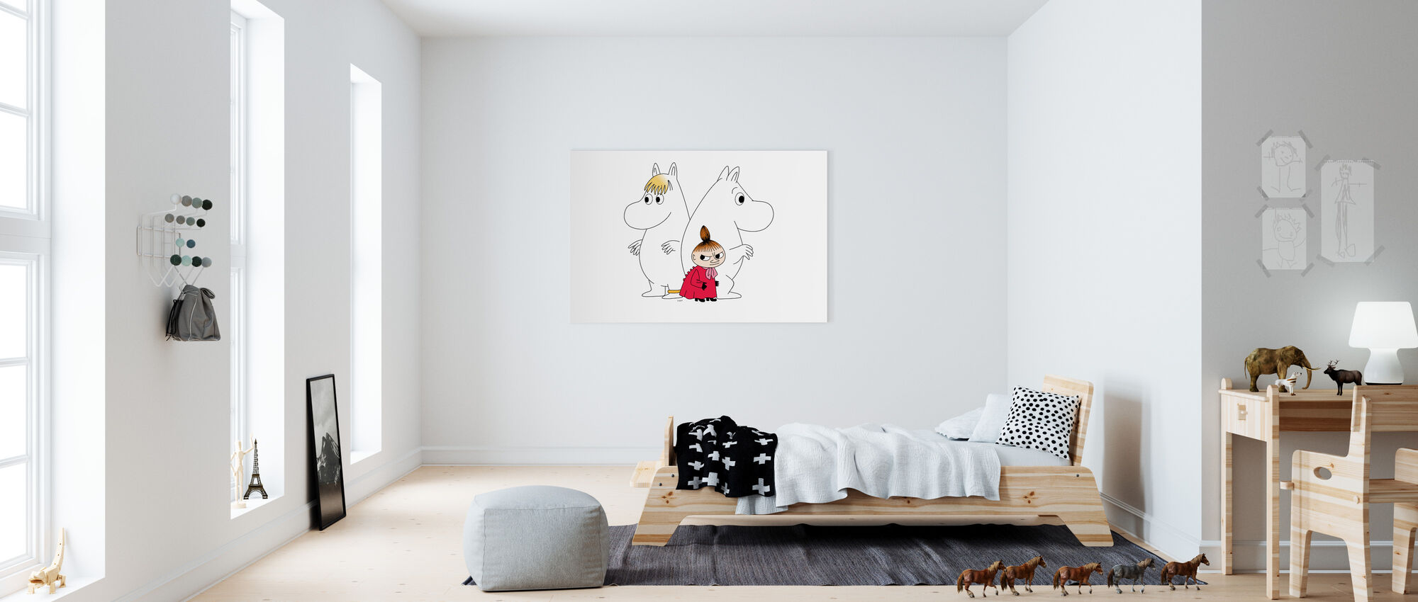 Moomin - Snorkmaiden and Little My - Canvas print - Kids Room
