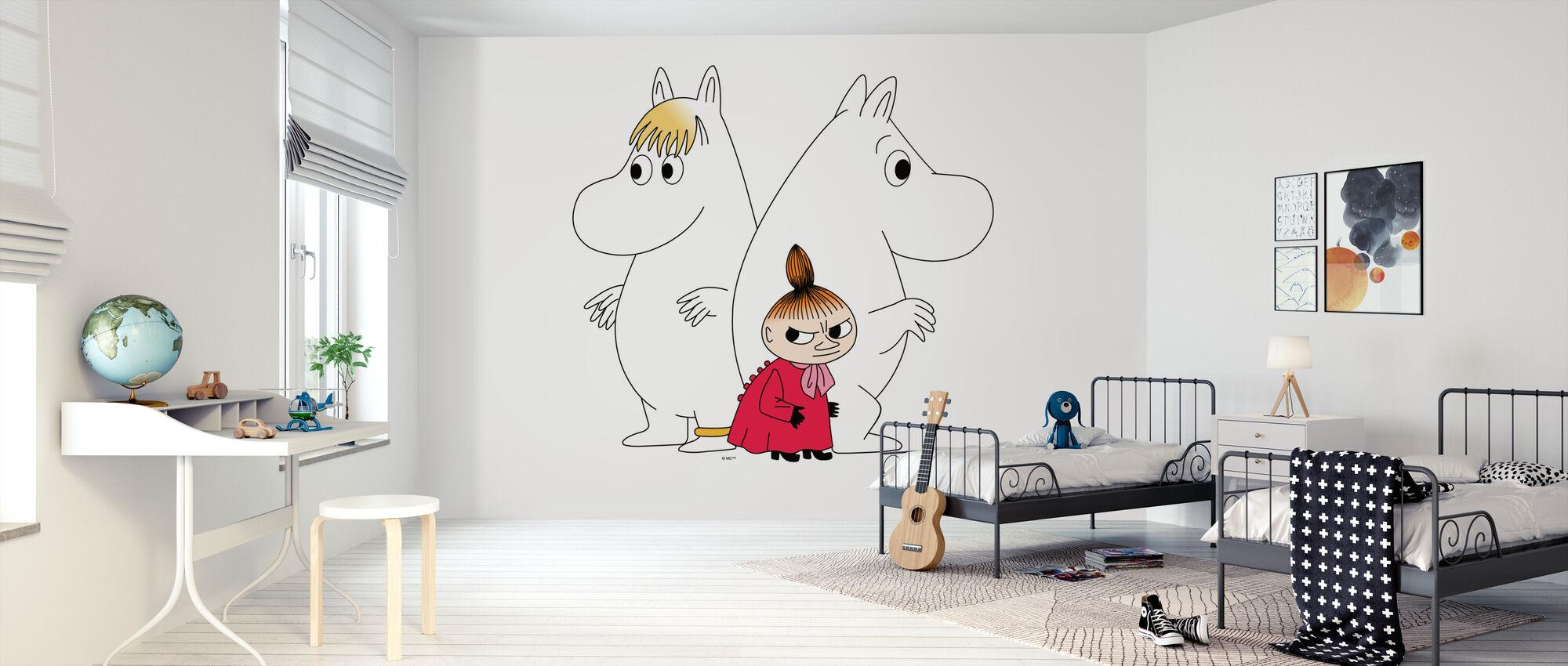 Mumin - Schnorchelmädchen und Little My - Tapete - Kinderzimmer