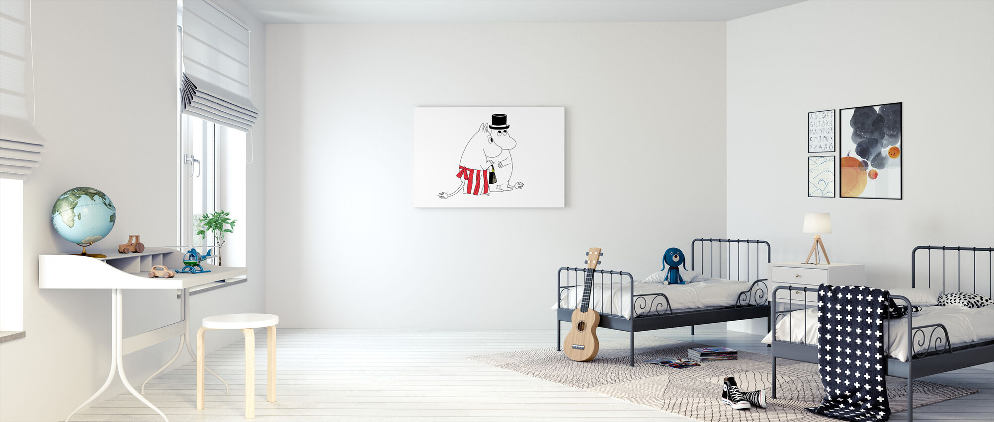 Moomin - Moominmamma and Moominpappa - Canvas print - Kids Room