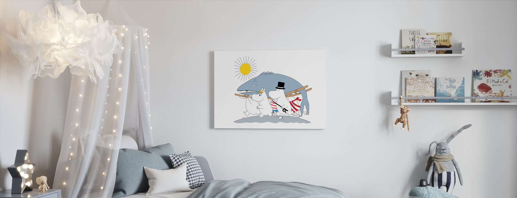 Moomin - Big Fish - Canvas print - Kids Room