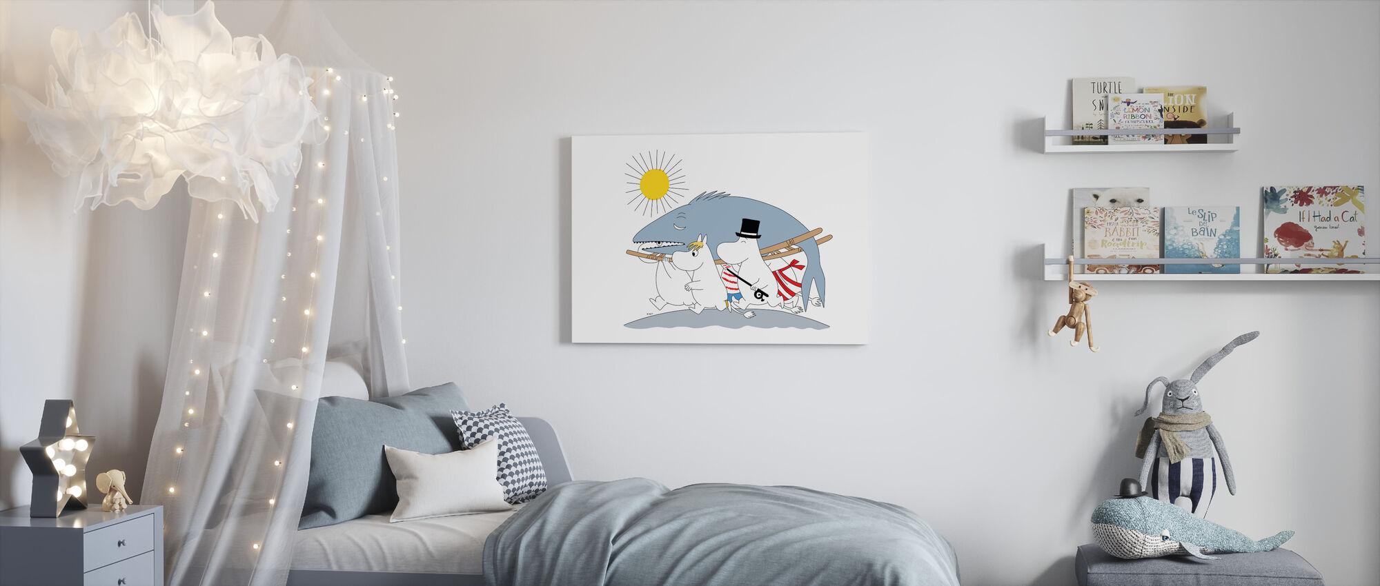 Moomin - Big Fish - Canvas print - Kids Room