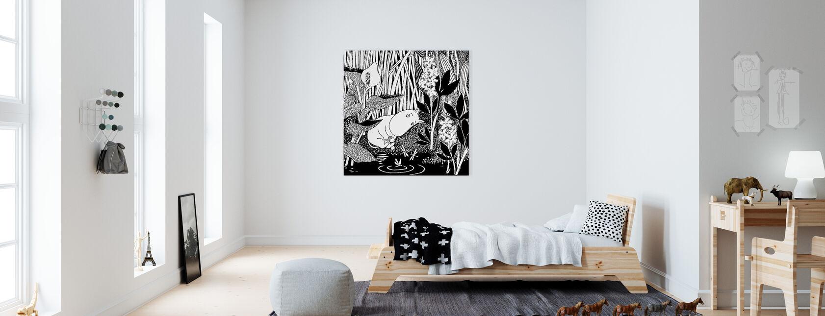 Moomin - Sleeping - Canvas print - Kids Room