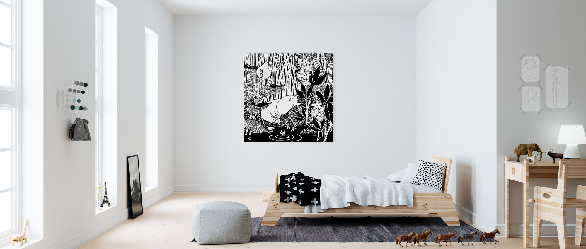 Moomin - Sleeping - Canvas print - Kids Room
