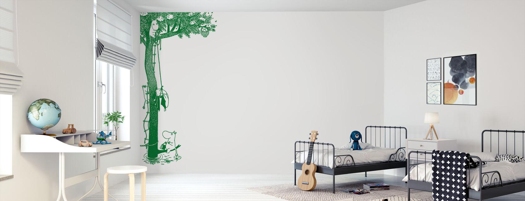 Mumin - Træ - Tapet - Børneværelse