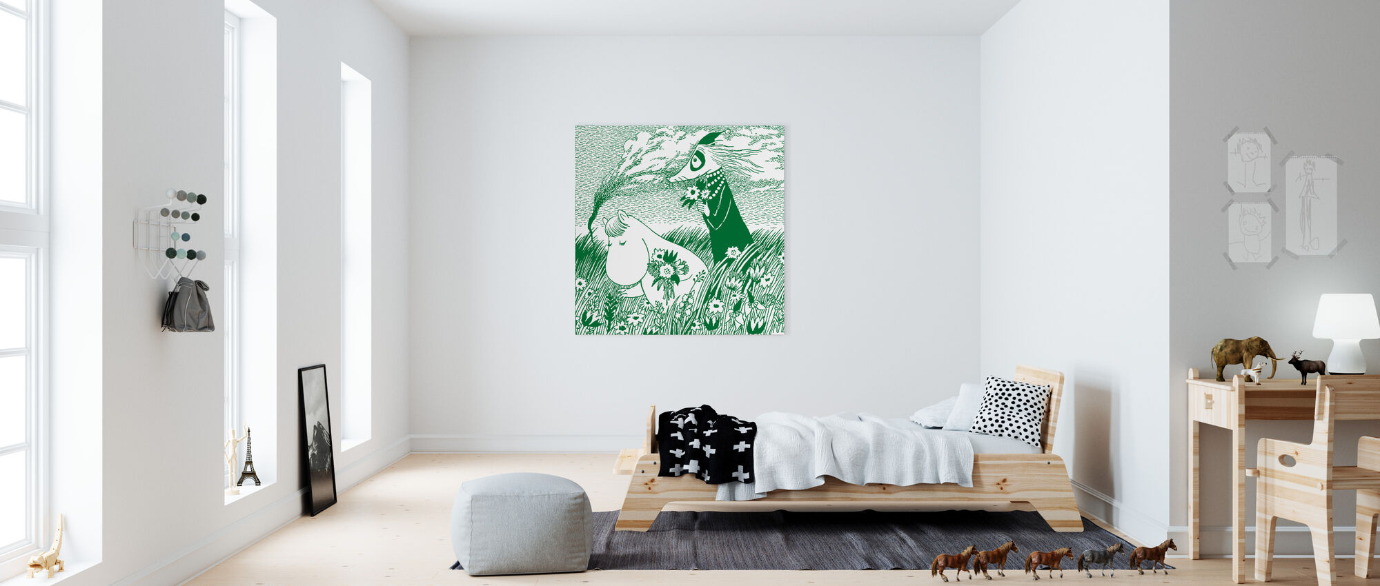 Moomin - Meadow Green - Canvas print - Kids Room