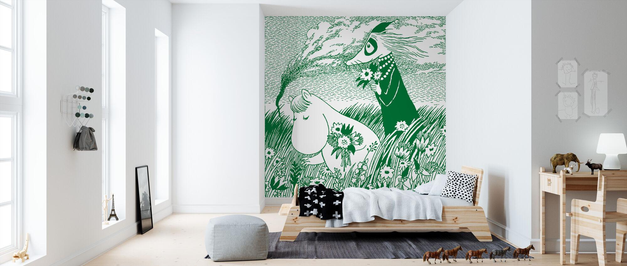 Moomin - Meadow Green - Wallpaper - Kids Room