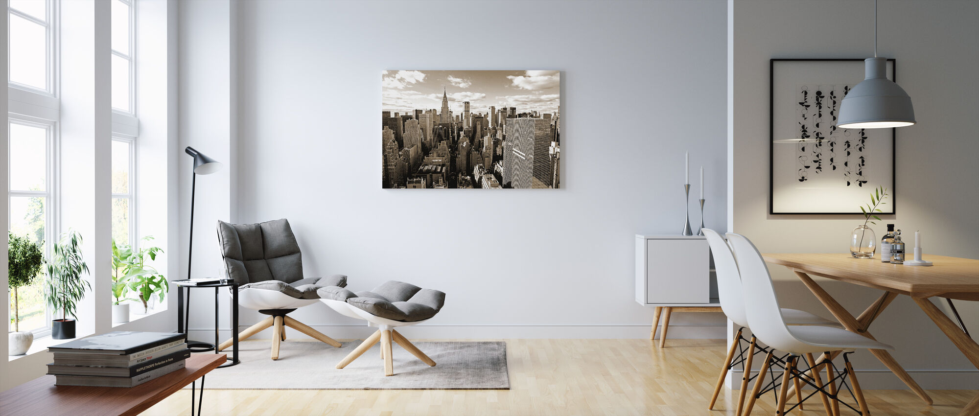Above Manhattan - Canvas print - Living Room