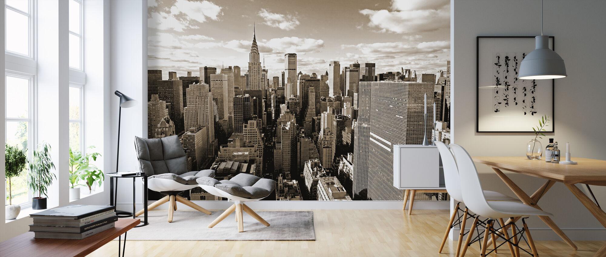 Above Manhattan - Wallpaper - Living Room