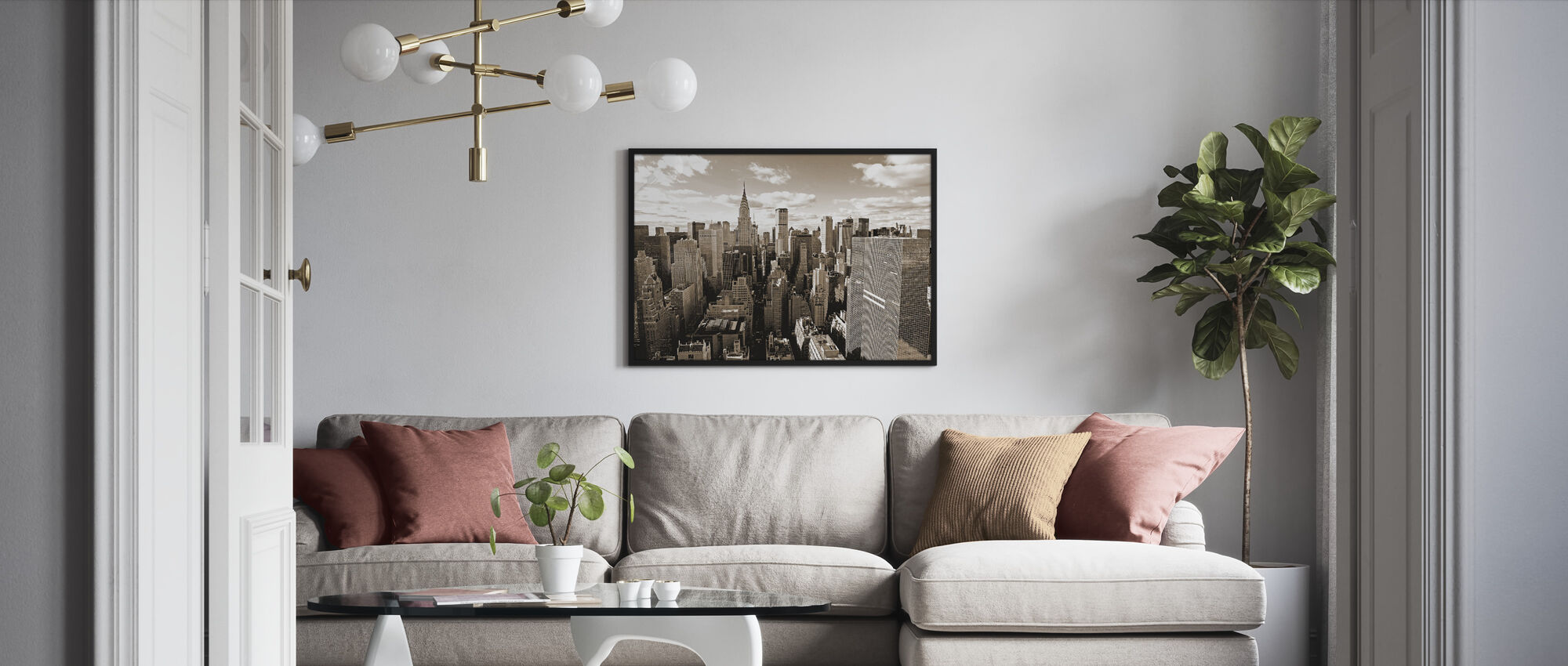 Above Manhattan - Framed print - Living Room