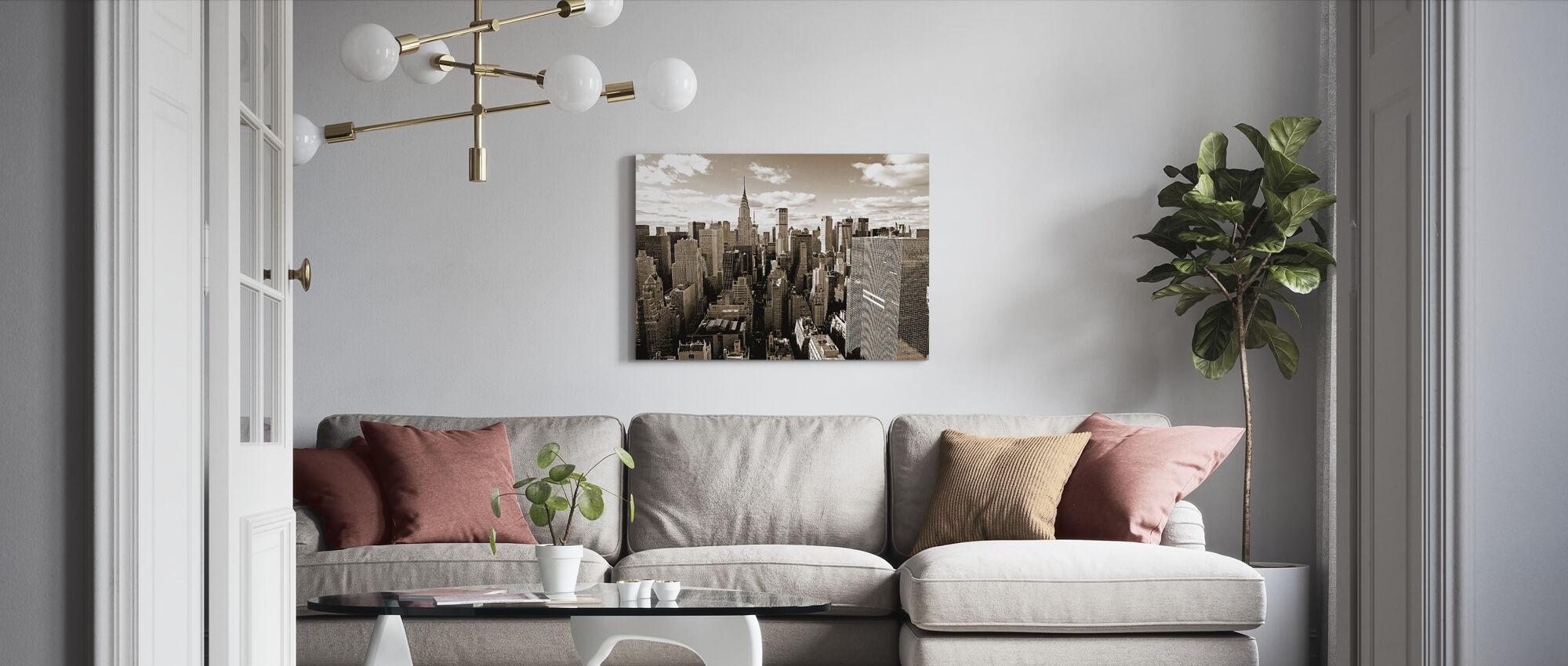 Above Manhattan - Canvas print - Living Room
