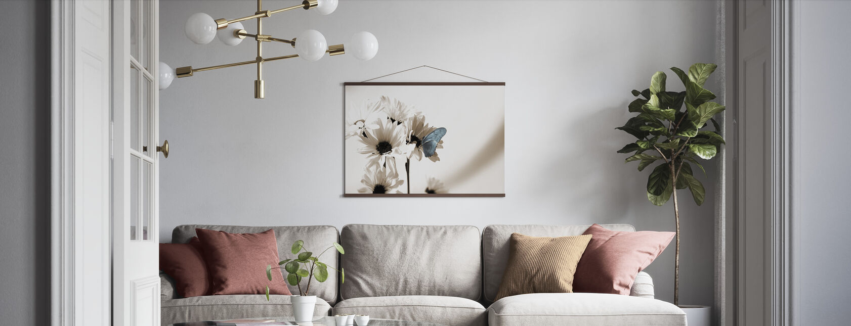 Julia Butterfly - Blauw - Poster - Woonkamer