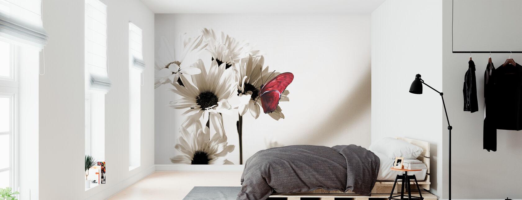 Julia Butterfly - Deep Red - Wallpaper - Bedroom