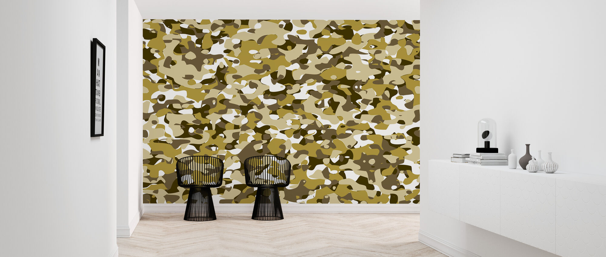 Camouflage - Geel - Behang - Gang