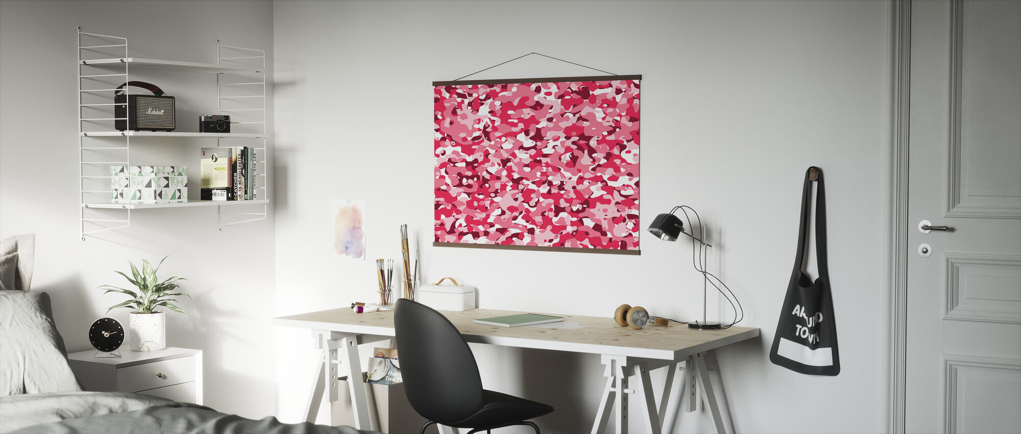 Camouflage - Pink - Poster - Office