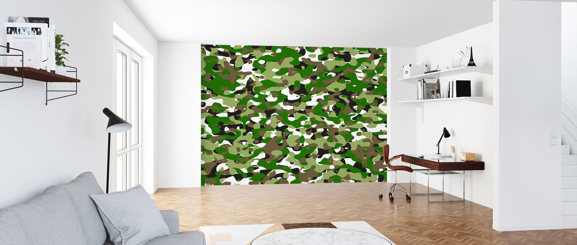 Camouflage - Green - Wallpaper - Office