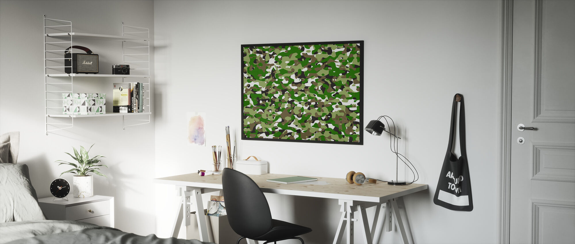 Camouflage - Green - Framed print - Kids Room