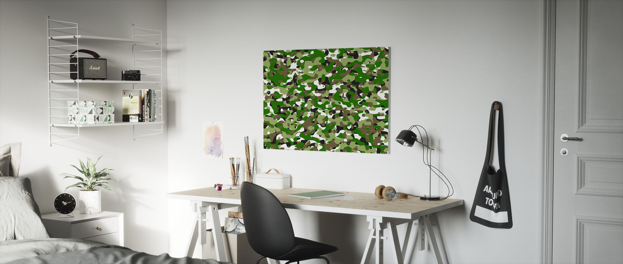 Camouflage - Green - Canvas print - Kids Room