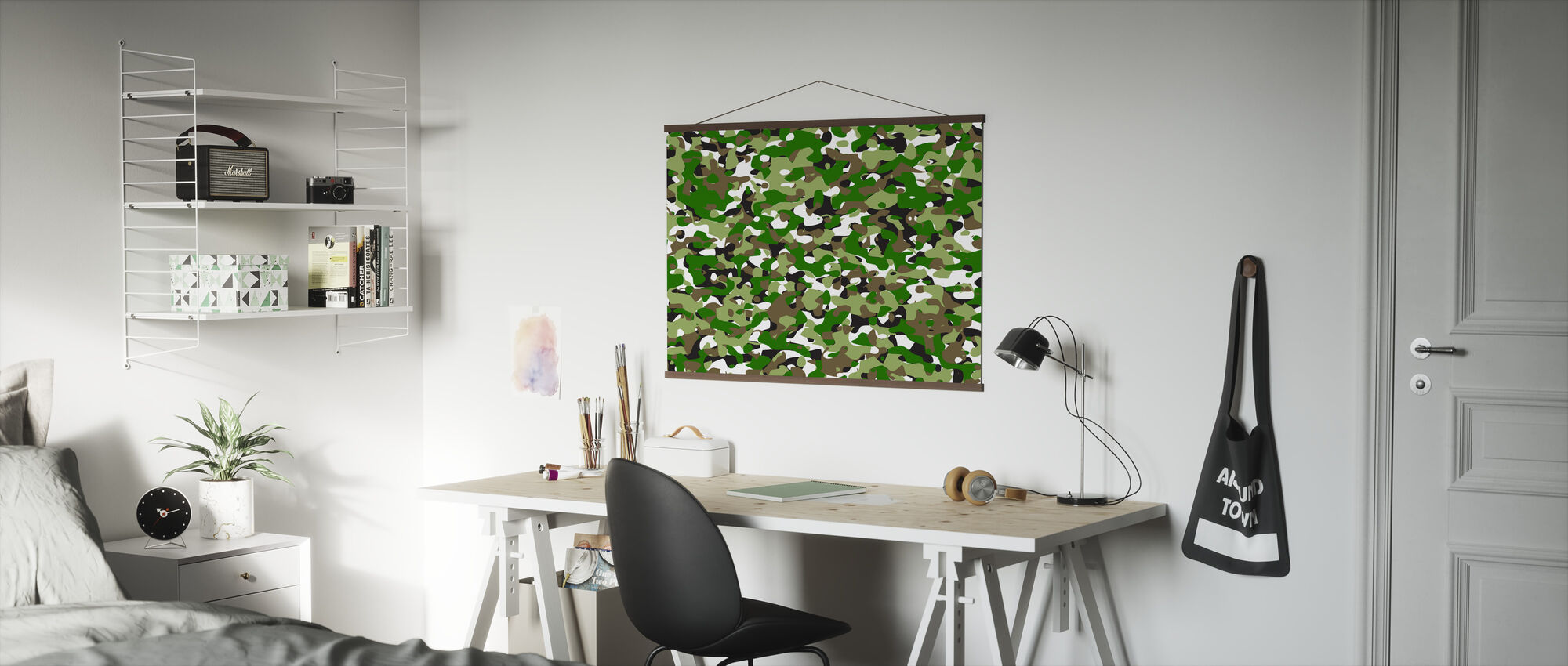 Camouflage - Green - Poster - Office