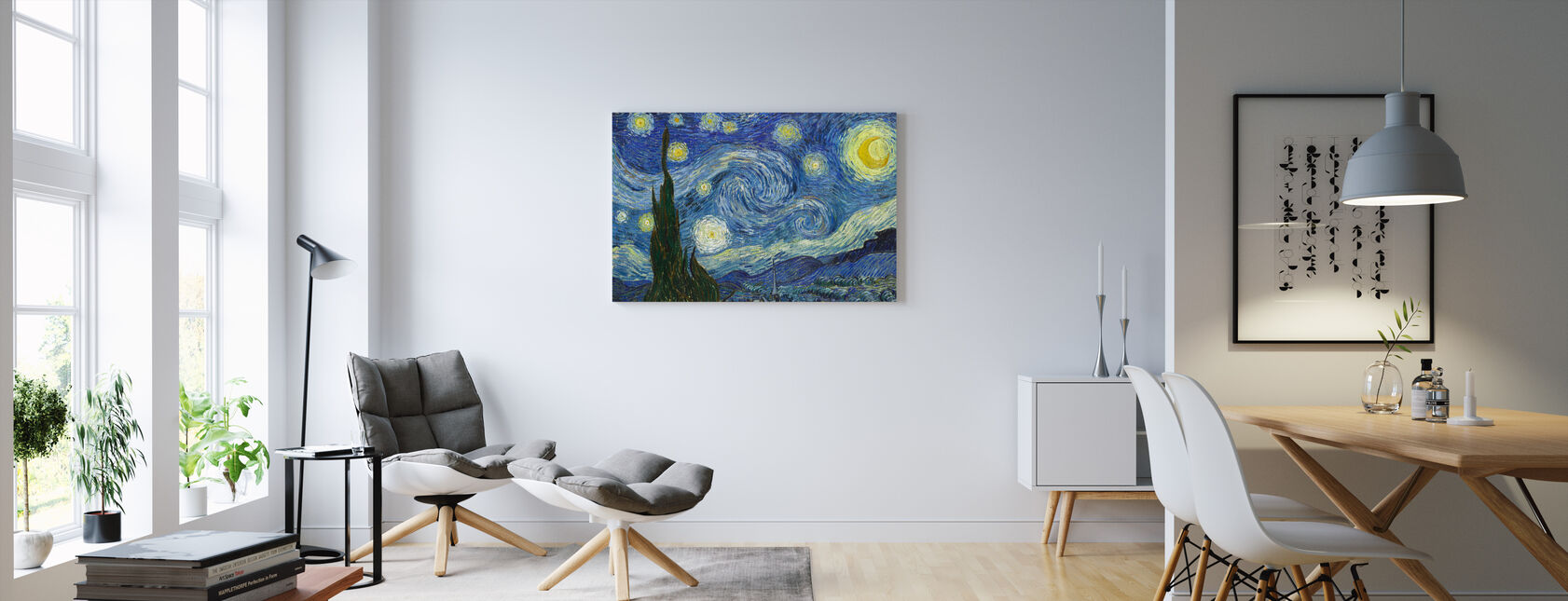Vincent Van Gogh - Starry natt - Canvastavla - Vardagsrum