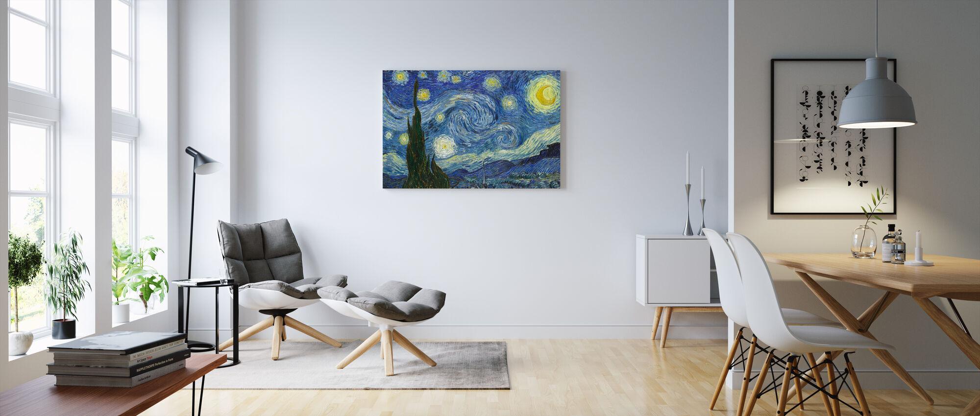 Vincent Van Gogh - Stjerneklar nat - Billede på lærred - Stue