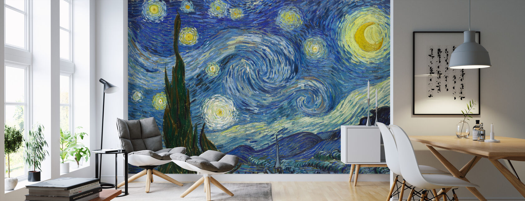 Vincent Van Gogh - Starry natt - Tapet - Vardagsrum
