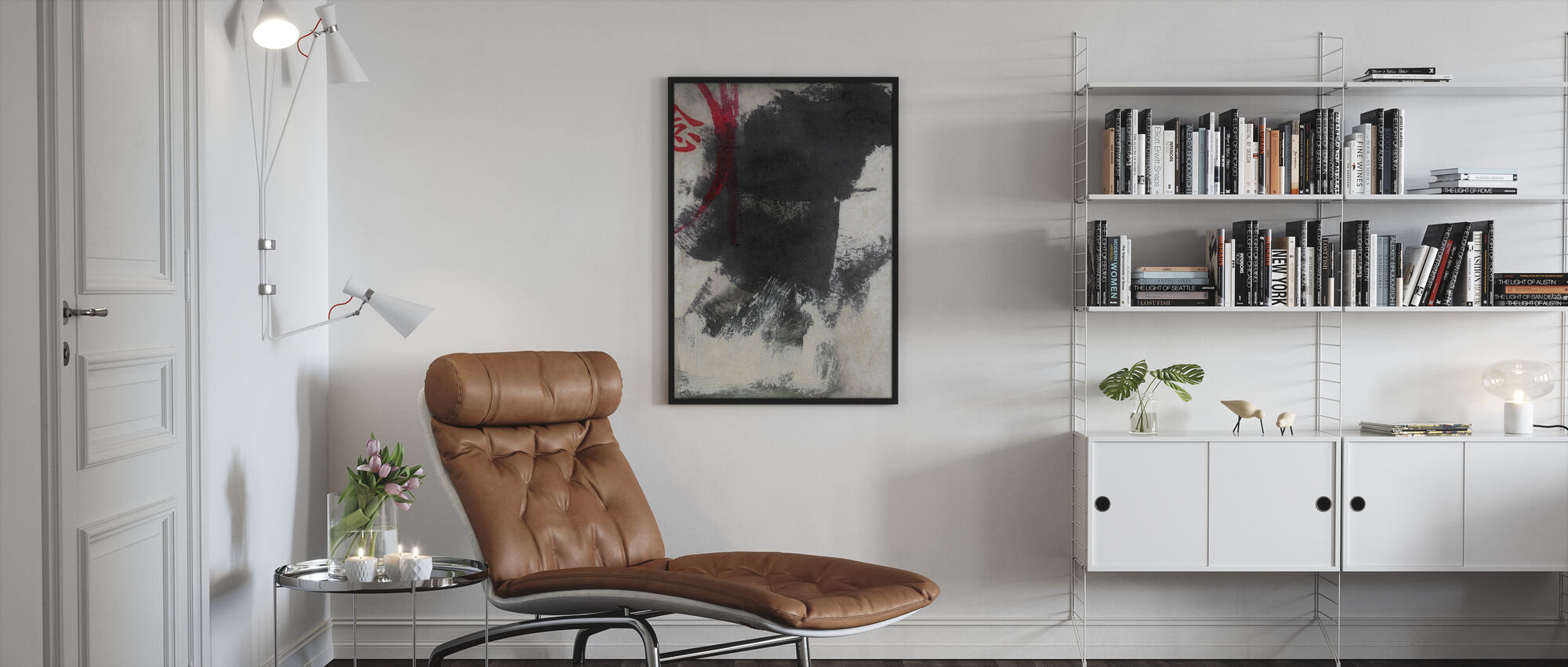 Chinese Character - Thought - Framed print - Living Room