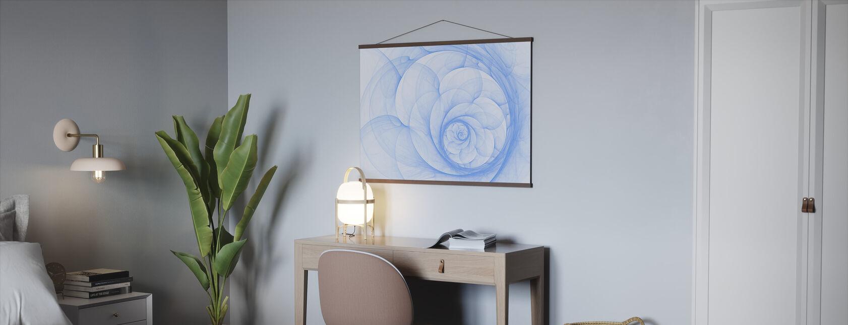Blue Petal Spiral - Poster - Office