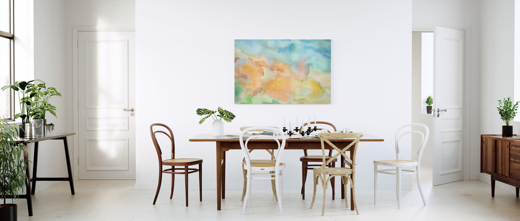 Abstracte Aquarel Sky - Canvas print - Keuken