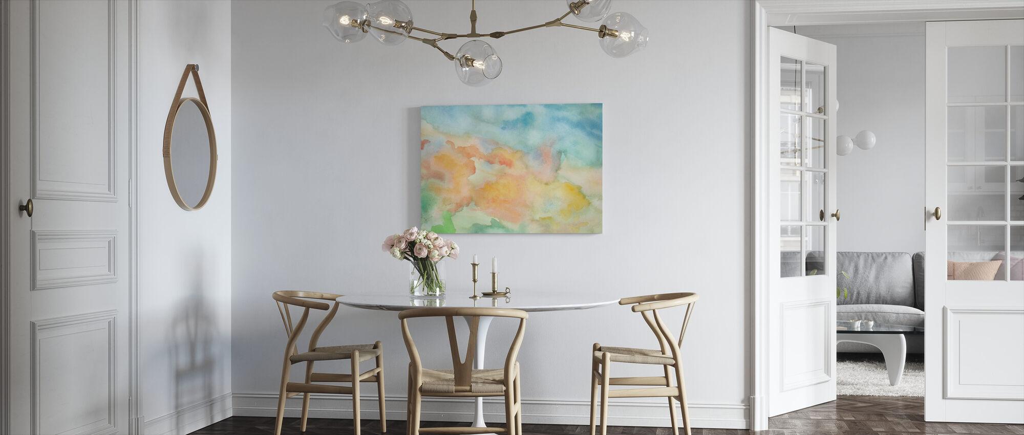 Abstrakti akvarelli taivas - Canvastaulu - Keittiö