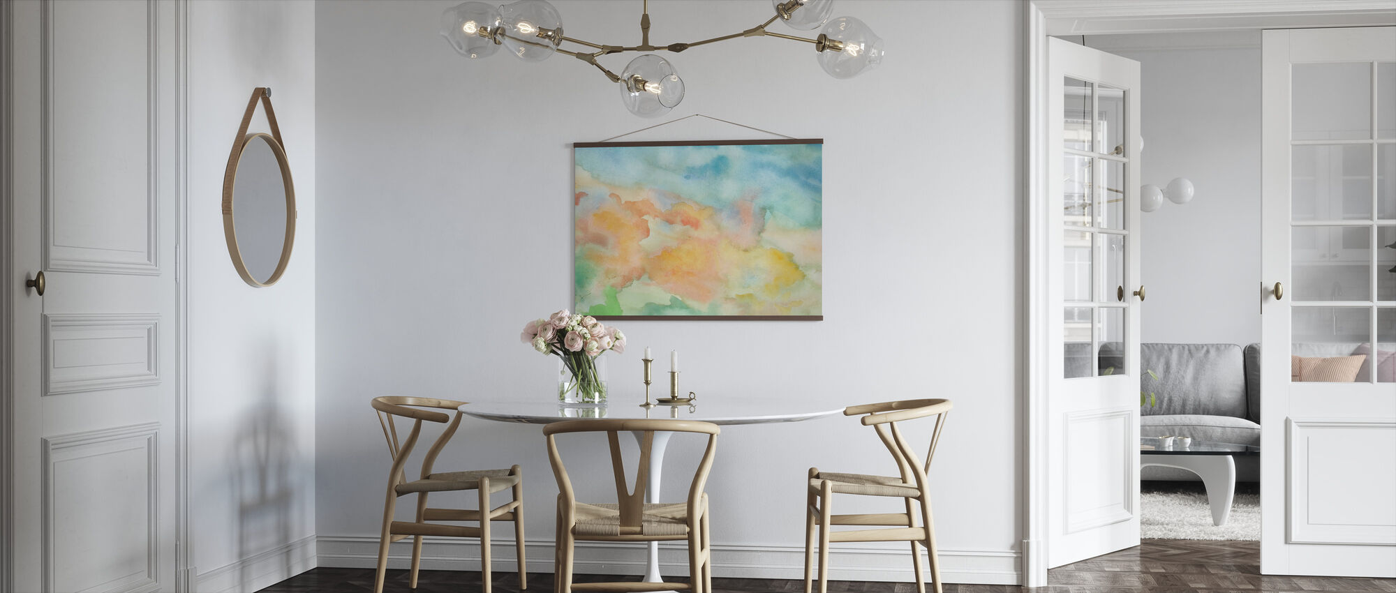 Abstract Watercolor Sky - Poster - Kitchen