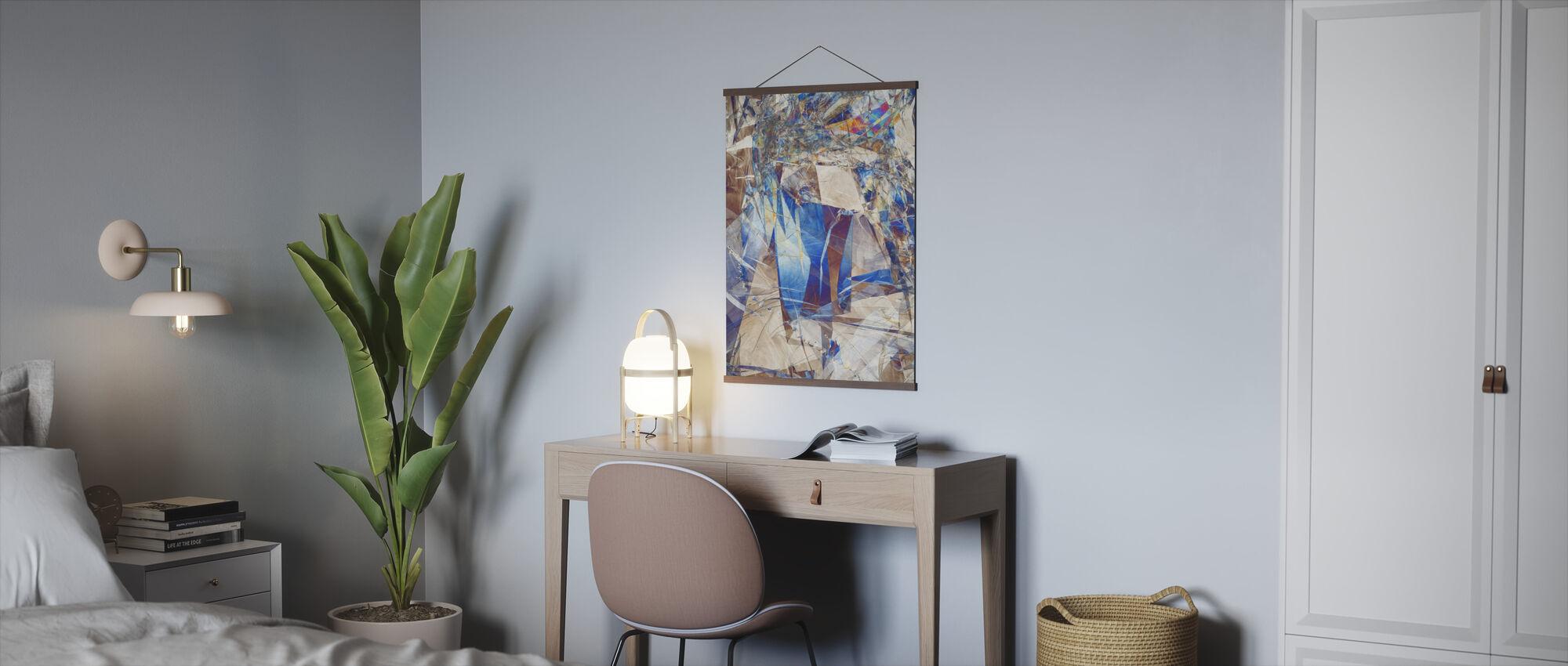 Gebarsten glas Abstract - Poster - Kantoor