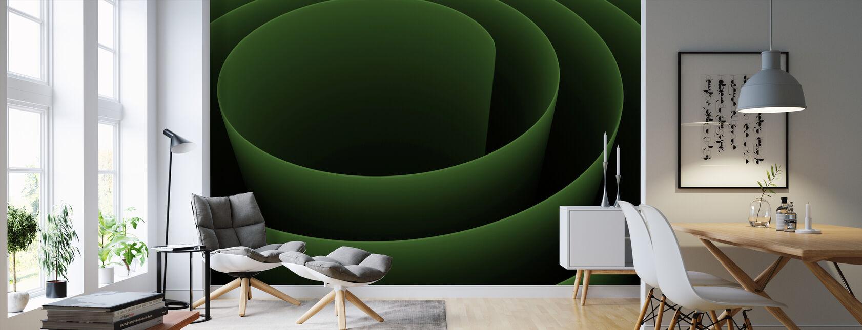 Abstrakt 3D Spiral - Tapet - Vardagsrum