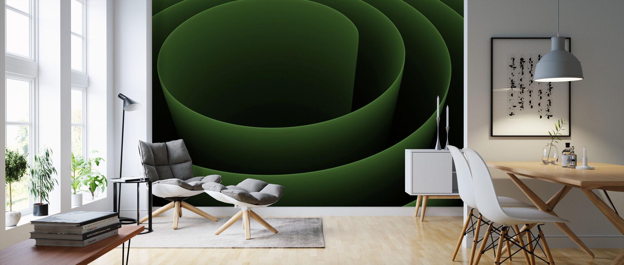 Abstract 3D Spiral - Wallpaper - Living Room