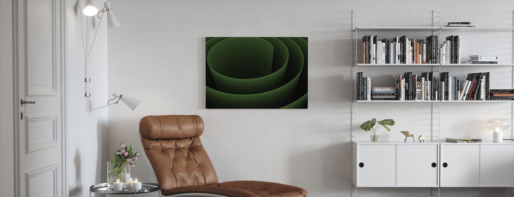 Abstrakt 3D Spiral - Lerretsbilde - Stue