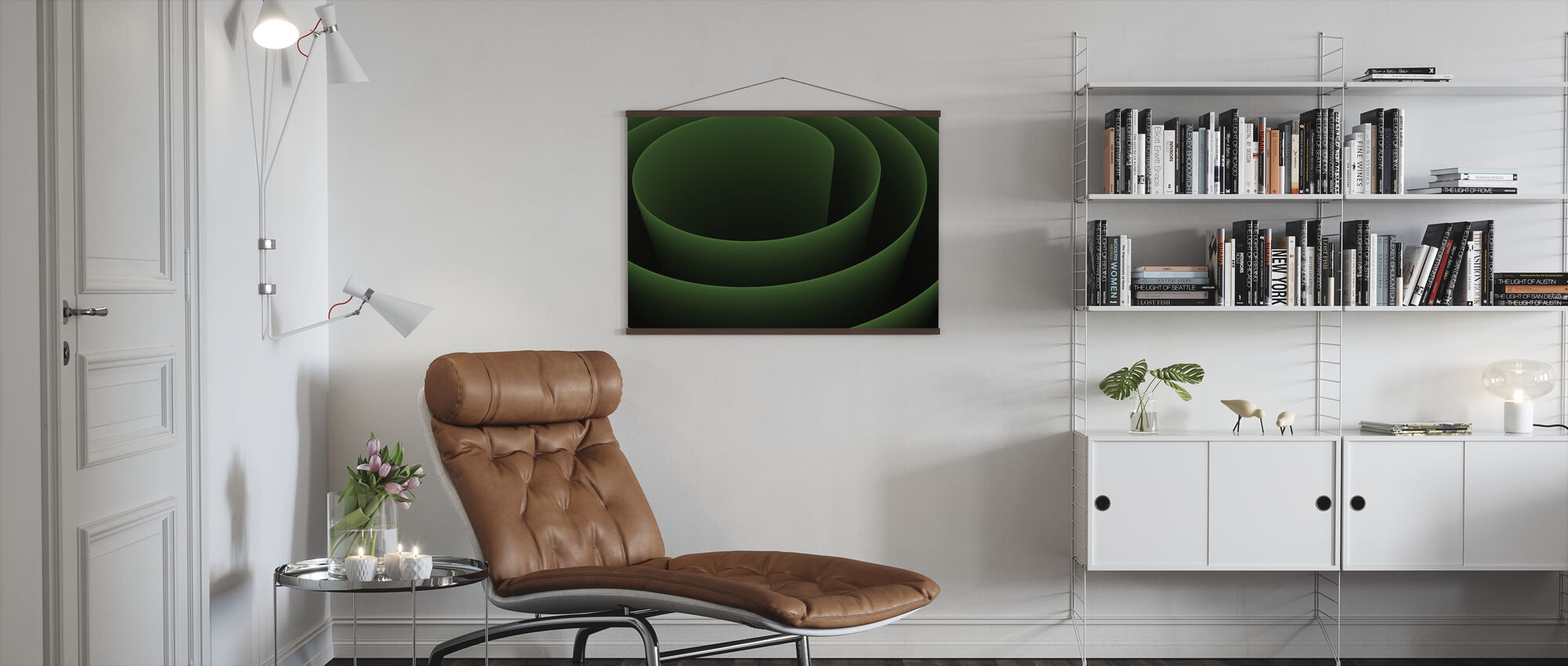Abstract 3D Spiral - Poster - Living Room