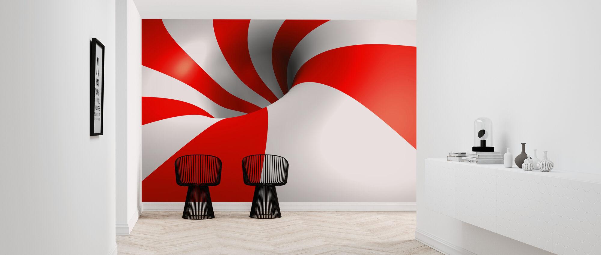 Polka Spiral - Wallpaper - Hallway